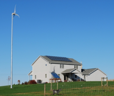 Barry Township SEIDO SUNDA solar thermal system, 3.1 kW solar PV, Skystream 3.7