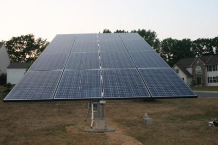 3.28kW Ground Mount with Evergreen Panels Chestnut Hill development