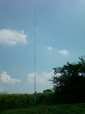 Wind Metering on temporary tower